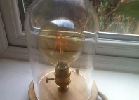 Annonces Vintage ,Industrial ,Lamp (Hand Made)